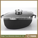 Kitchen Supplies 40cm Aluninum Easy for Clean Oval Roaster Pan