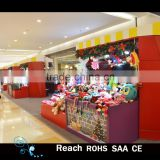 christmas PVC plants with balls & red fabric flowers scene Shopping malls counter decorations