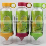 New Lemon Water Bottle Plastic Juice Source Vitality Fruit Cup 800ml Drinkware Outdoor Fun Sports BPA Free Infuse Water Bottle