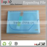 Translucent Color Plastic A4 Document Storage Bag Carrying Case With Elastic Closure Decorative Expanding File Folders