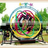 Thrilling Amusement Park Equipments Human Gyroscope Rides with a Trailer for Sale