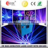 3w SD Card RGB Full Color Laser Light,Professional Indoor DJ Equipment DMX Control