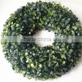 Yiwu wholesle artificial round shape boxwood wreath for decor                                                                         Quality Choice