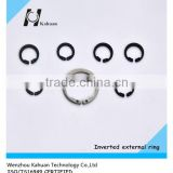 Carbon steel inverted retaining rings external