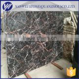 shuitou square Cuckoo red marble wall tile and black and red stone flooring marble black fringe color