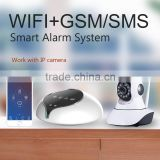 Easy control via app and adding sensors smart home wifi gsm alarm system newest release