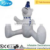 DJ-180 6ft japanese white inflatable christmas sitting bear panda decoration outdoor garden items