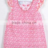 baby clothes baby wear hot sell high quality children girl pink dress short sleeves teenage girls blouse
