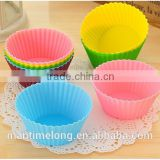 12pc/pack silicone muffin cups cake baking mold