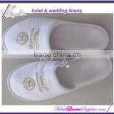 disposable Sheraton hotel white terry slippers, 5-star hotel white terry slippers used in luxury hotels