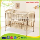 WBC-15A custom made wood multi-purposes baby crib bed with eco-friendly water-based paints                                                                         Quality Choice