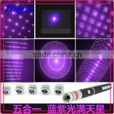 20mw 532nm Cheap Purple All Stars Aluminum Alloy Waterproof Laser Pointer