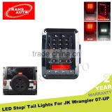 Black LED Rear Tail Light Brake Turn Signal Reverse Pair Jeep LED Tail Light for 07-16 Jeep Wrangler JK