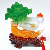 Favorites Compare 2013 Chinese cabbage polyresin figurine with lucky base for kitchen decor