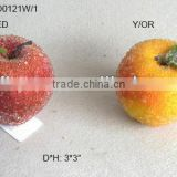 "2013 New Artificial Fake Fruits Christmas 3*3"" Artificial Sugar Apple With Glitter Christmas Tree Decoration"