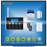 Dual Network PSTN home alarm gsm wireless system with touch keypad and wireless doorbell