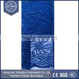 2016 hot sale royal blue wedding dress lace fabric stock lot high quality african clothes french tulle beaded lace fabric