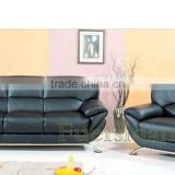 classic wood frame full grain vintage leather sofa