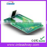 Printable visa card usb flash drive with free custom full color printing