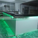 Nightclub Bar Counter,Led Counter, L-Shape led light reception desktop Designs