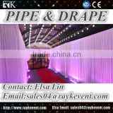 Restaurant lobby telescopic flexible pole pipe and drape wholesale wedding backdrop wall pipe and drape for sale