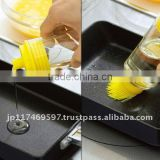 japanese kitchen utensils gift frying pan plastic oil tools pot with washable silicone brush