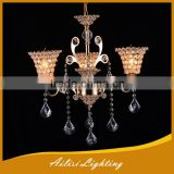 Antique Top Sale High Quality Gold Crystal Chandelier with 3 Lights