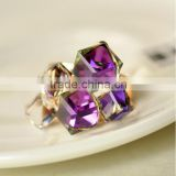Korean Magic Cubic Zircon Exaggerated Gold Plated Luxury Ring Jewelry For Lady