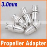 Prop 3.0mm RC Aluminum alloy silver Bullet Propeller Adapter Holder for Brushless Motor Prop RC Plane Accessories Parts