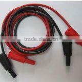 Safety protection Banana Plug Silicone Cable High Voltage Red Black