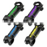 Colorful Aluminum with Carbon Fiber Bike Stem Road/MTB Bicycle Stem+top cap Bike Parts 31.8*80/90/100/110mm ST2247