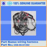 Excavator spare parts PC400-6 wiring harness 208-06-61392 excavator wire harness assembly