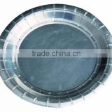 "10"" round shaped designed silver laminated paper plate"