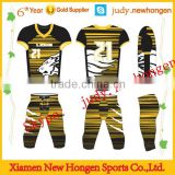 sublimated team set american football shirt, american football shirt made in china