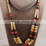 Special Design Necklace/Wholesale Fashion Large Garnet Jewelry Wooden Beads Necklace/Hot Sale