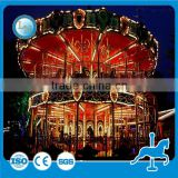 Theme park fairground carousel rides amusement park ride Fiberglass merry go round luxury double deck carousel for sale