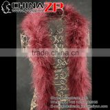 Gold Supplier CHINAZP Wholesale 40g Weight Selected Prime Quality Colored Reddish Brown Turkey Marabou Feathers Plumage Scarf Bo