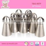 Cupcake cake decorating Sphere Ball Tips nozzle 7pcs