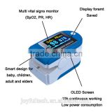 Multi-colored fingertip portable pulse oximeter for medical testing