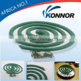 New, hot sale KONNOR chemical 130mm Green effectively smokeless mosquito-repellent incense