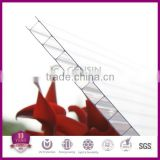factory offered transparent color easy clean hollow polycarbonate sheets 2100*5800/11800mm