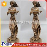 A beautiful lady playing Ukulele bronze sculpture for sale NTBH-053LI