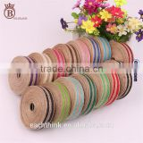 DIY Party Decoration Color Burlap Ribbon Multicolor Jute Rolls
