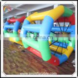 Promotion colourful inflatable water walking wheel, floating water roller , exciting surfing water game from china supplier