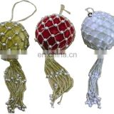 christmas hanging ornament beaded ball