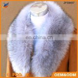 2016 wholesale real fox tail fur scarf for women