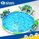 used commercial inflatables water slides with pool for kid China