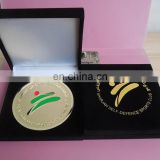 golden medallion Sharjah self defence sport club award medal velvet box packed gift medal