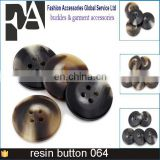 Good Reputation Export USA Europe China Garments Factory Featured Texture Plastic Buttons 4 Holes Resin Horn Botones