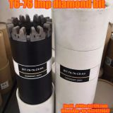 T6-76 impregnated diamond core drill bits, exploration drilling bit, rock coring, geotechnical drilling bits